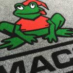 Tappeto intarsiato Personalizzato con il logo MACO